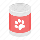 animal, canned food, feed, food, jar