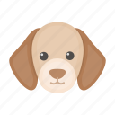 dog, puppy, muzzle, pet icon