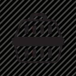 animal, box, cage, dog, dog transporter, pet icon