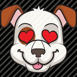 cartoon, dog, emoji, emoticon, face, smiley icon