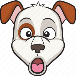cartoon, dog, emoji, emoticon, face, smiley icon