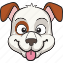 emoticon, smiley, dog, face, cartoon, emoji