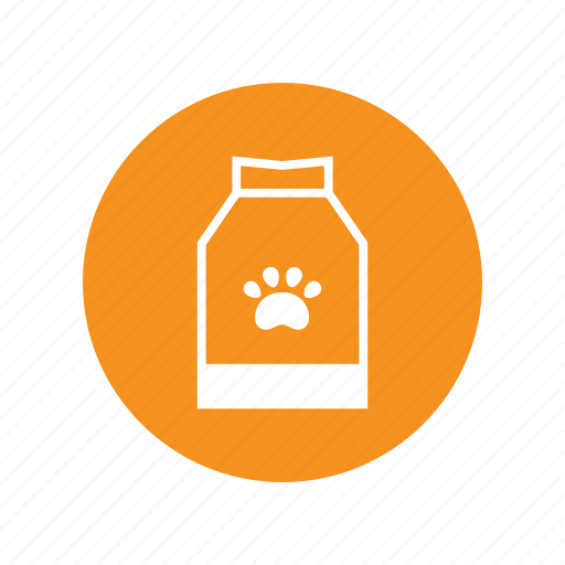 a pack of dog food, animal, claw, dog, eat, food, snack icon