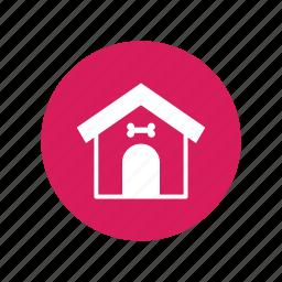 animal, bone, dog, home, house, pet, sleep icon