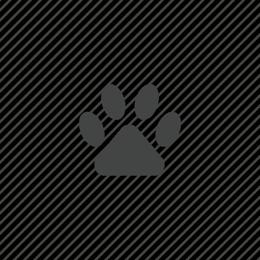 animal, paw, paw print, pet icon