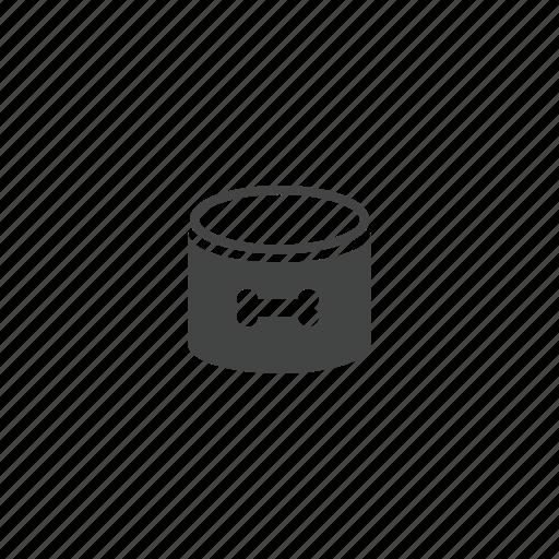 bone, canned food, dog food, pet, pet food icon