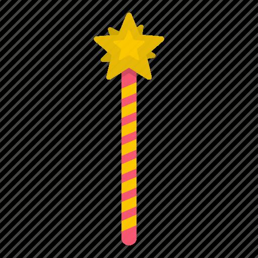 birthday, creative, creativity, fairytale, magic wand, stick, wish icon