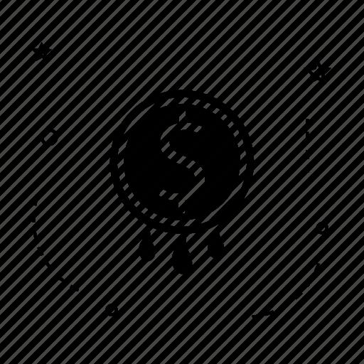 bank, coin, dollar, money, rain icon