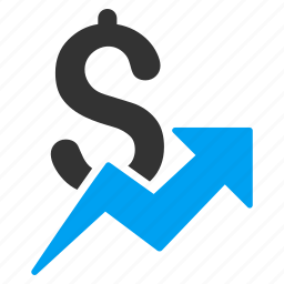 chart, diagram, dollar, graph, sales growth, statistics, trend icon