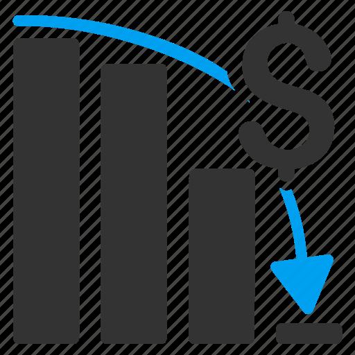 analysis, bar chart, diagram, epic fail, financial crisis, graph, negative trend icon