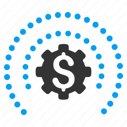 business, dotted sphere, finance, industry, protection, settings, tools icon