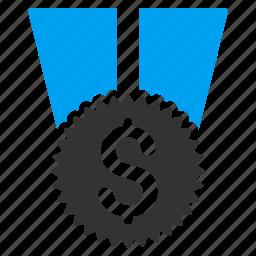achievement, award, best, finance, financial medal, money, success icon