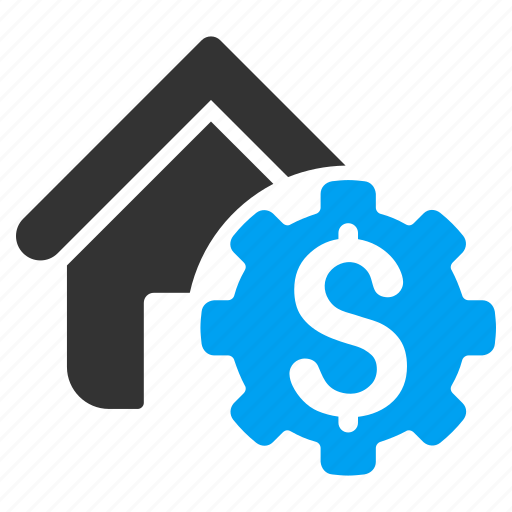 building, configuration, gear, home, house rent, options, settings icon