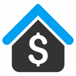 bank office, business, home, house, loan mortgage, rent, sale icon