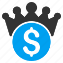 admin, boss, crown, finance, financial power, king, rating icon