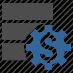 bank, data base, database, options, server, settings, tools icon