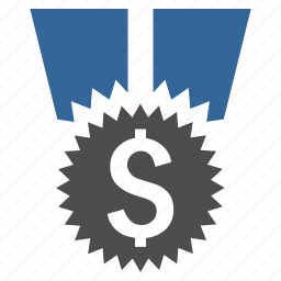 award, dollar, finance, financial medal, money, prize, success icon