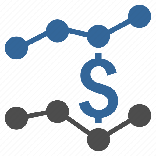 business, chart, dollar, financial trends, graph, money, report icon