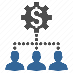 bank clients, dollar, industrial, money, network, user group, users icon