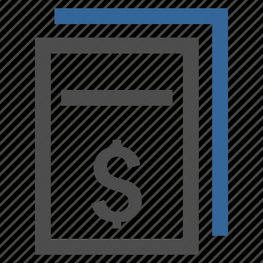 check, contract, document, invoice, price copy, prices, report icon