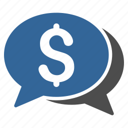 banking transactions, business, cash, chat, communication, finance, money icon