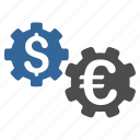bank options, business, finance, financial gears, industry, international, mechanics icon