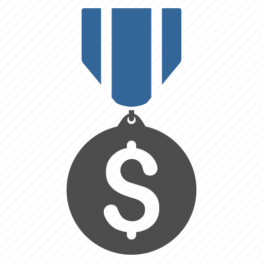 achievement, award, dollar, finance, honor, medal, trophy icon