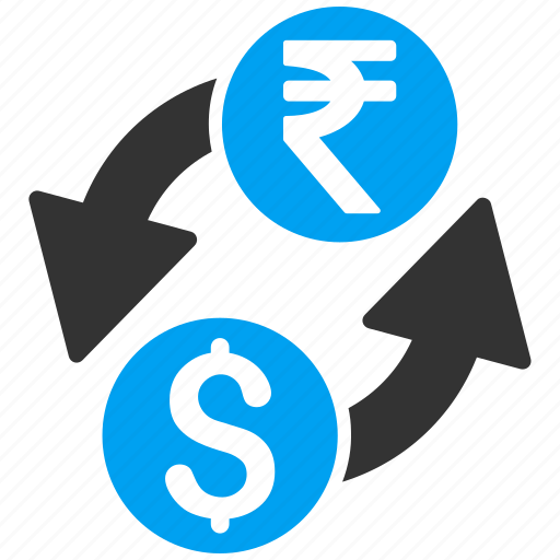 banking, currency exchange, dollar, finance, forex trade, indian rupee, money change icon