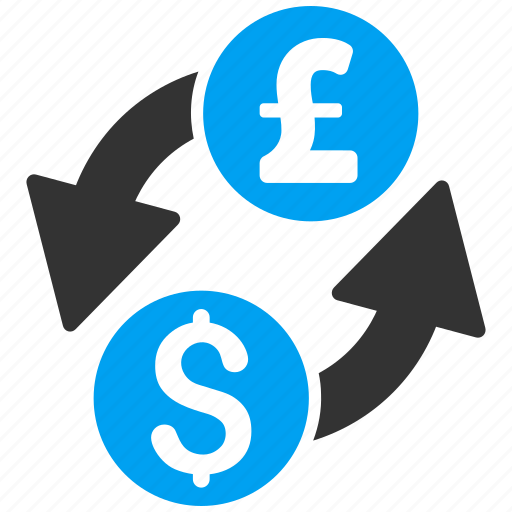 banking, currency exchange, dollar, finance, forex trade, money change, pound sterling icon