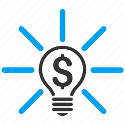 business idea, energy, finance, invention, light bulb, science, solution icon