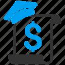 bill, certificate, dollar, education, invoice, order, receipt