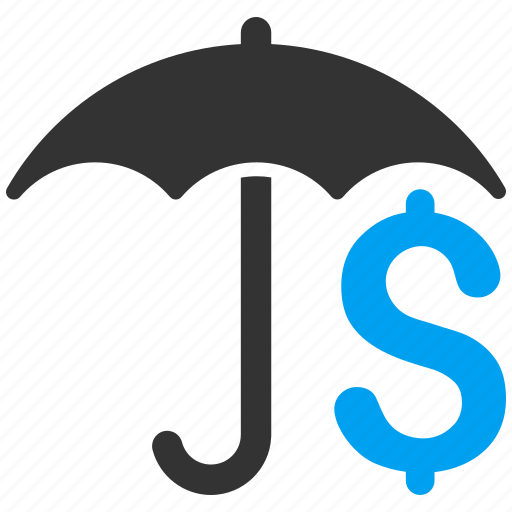 care, finance, financial protection, guard, money, safety, umbrella icon