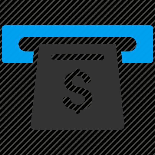 cash machine, cashout, invoice, paper receipt, payment, register, slot icon