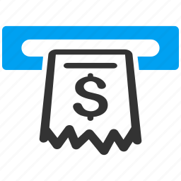 business, cash machine, cashier, invoice, payment, receipt, terminal icon