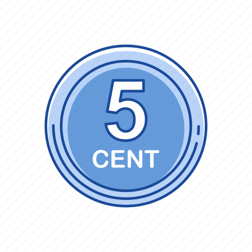 cents, coins, five cent, money icon