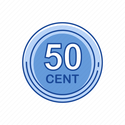cents, coins, fifty coins, money icon