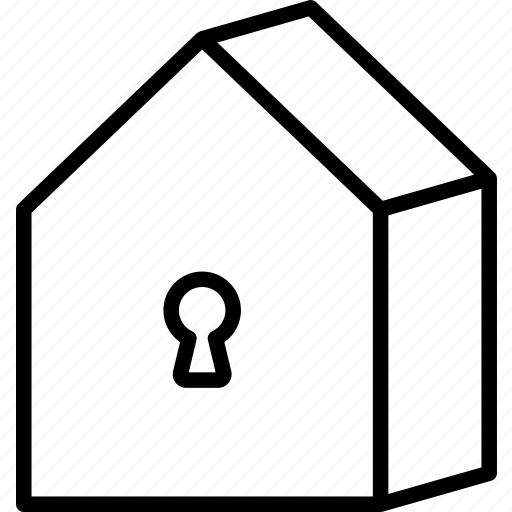 access, home, house, key, lock icon