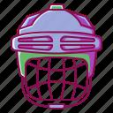 helmet, hockey, safety, sport, winter icon