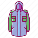 apparel, hoodie, sport, sweater, winter icon