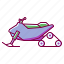 skating, snowmobile, sport, vehicle, winter icon