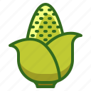 agriculture, corn, farming, organic, vegetable icon