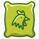 agriculture, chicken, farm, farming, feed icon