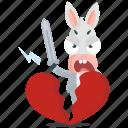 break, donkey, emoji, emoticon, heart, smiley, sticker icon