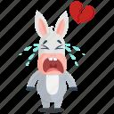 emoji, broken, donkey, heart, emoticon, smiley, sticker icon
