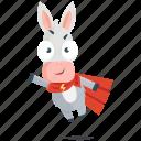 donkey, emoji, emoticon, hero, smiley, sticker icon