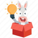 donkey, emoji, emoticon, idea, smiley, sticker, surprise icon