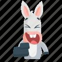 donkey, emoji, emoticon, laugh, smiley, sticker icon