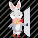donkey, emoji, emoticon, sexy, smiley, sticker icon