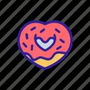 bitten, breakfast, chocolate, coconut, crumbs, donut, sweet
