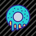 breakfast, chocolate, donut, donuts, stack, sweet, three